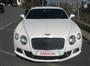 Beyaz Bentley Continental Ön Görünüm