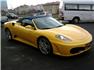 Sarı Ferrari F430 F1 Spider Sağ Ön Görünüm